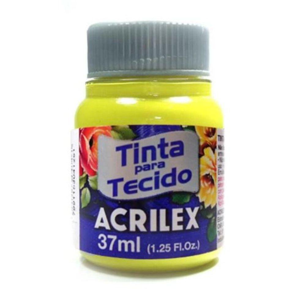 Tinta-Para-Tecido-Amarelo-Limao-37ml---Acrilex