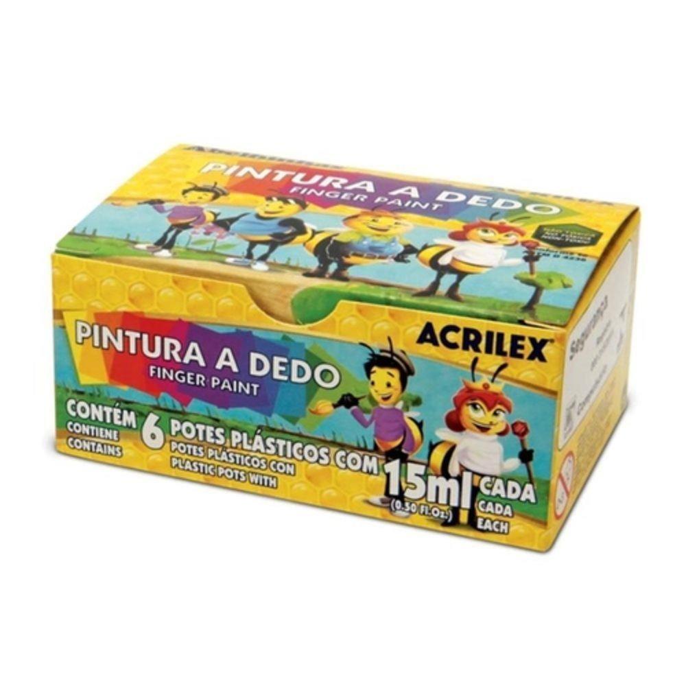 PINTURA-A-DEDO-ABELHINHAS-CAIXA-6-UNIDADES---ACRILEX