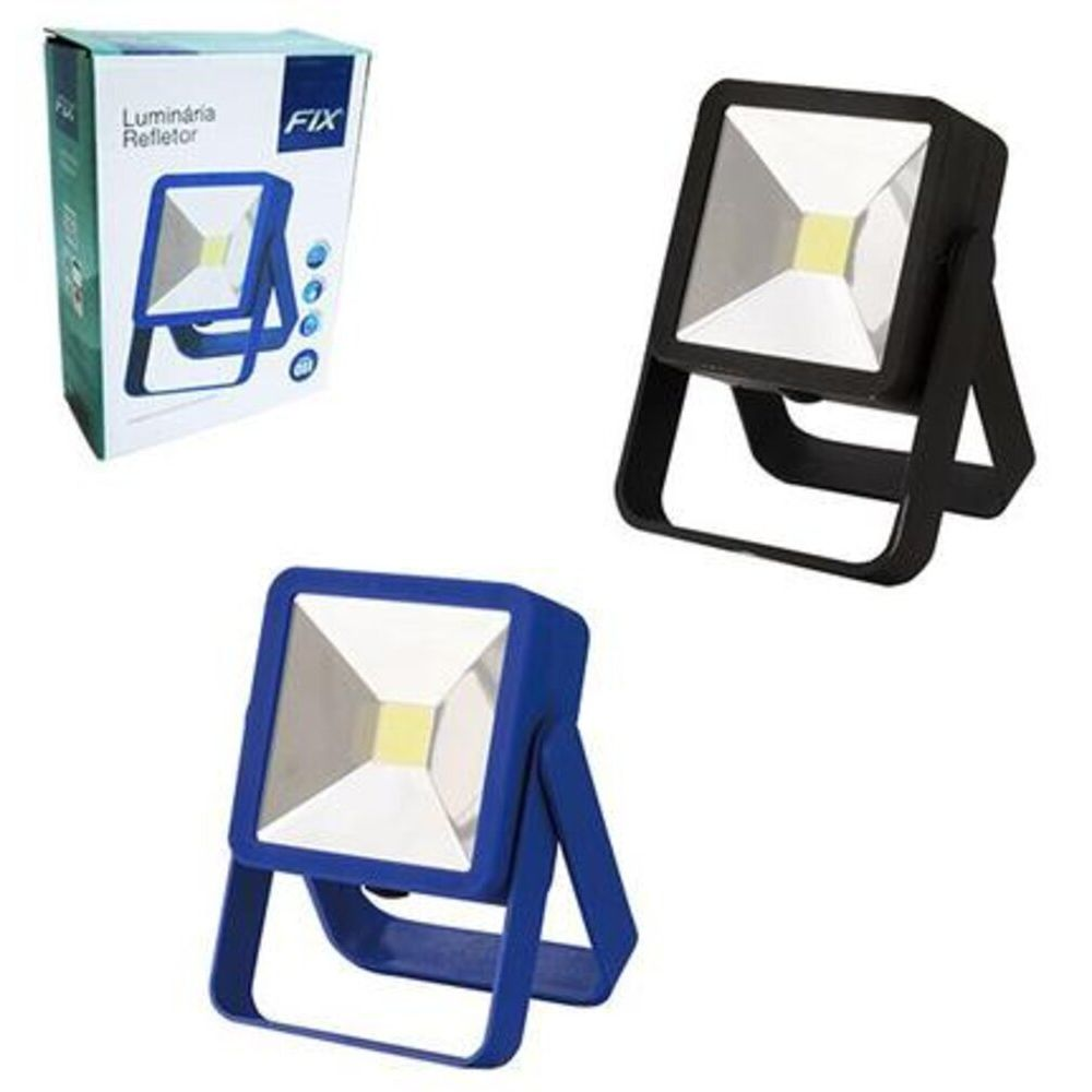 LATERNA-REFLETOR-9X9X3-LED-PRETA---FIX